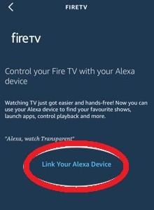 link the Alexa app