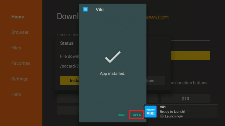 Once installed click on Open to launch the app
