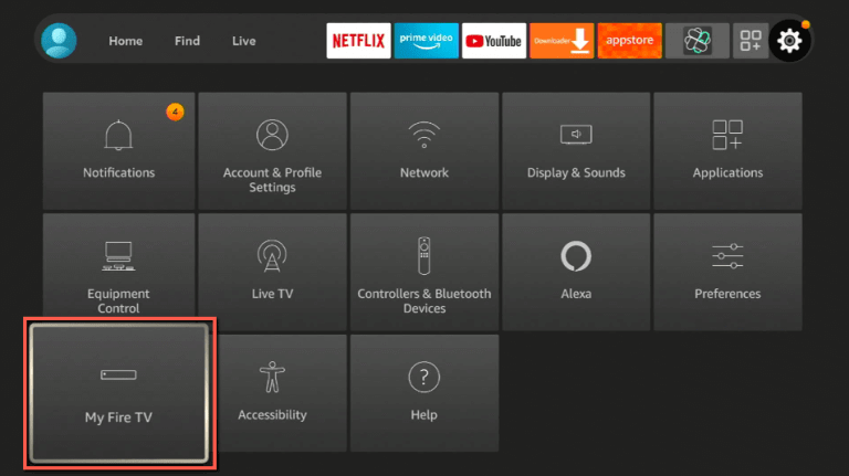 click on My Fire TV