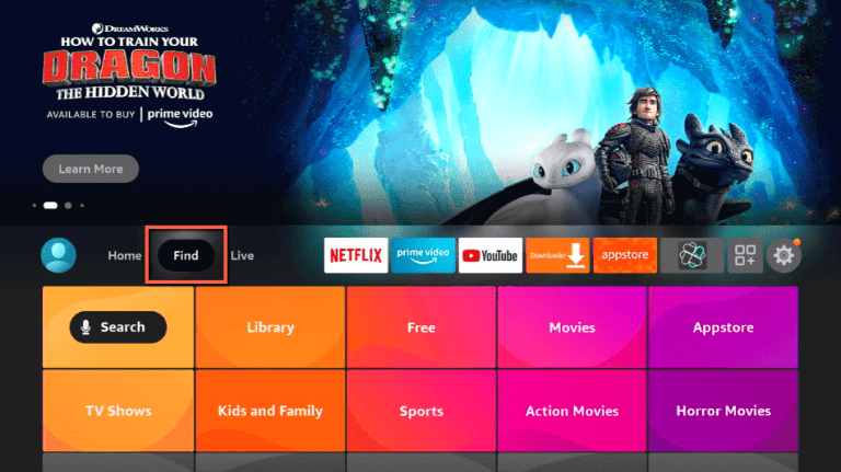 click on Find to install Viki on Firestick
