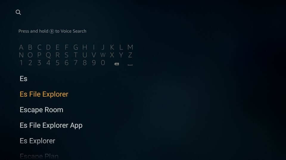 search for ES File Downloader to watch big bang theory on firestick