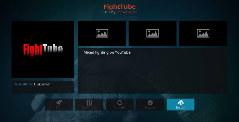 FightTube is a best Kodi Addon to watch PPV on Firestick