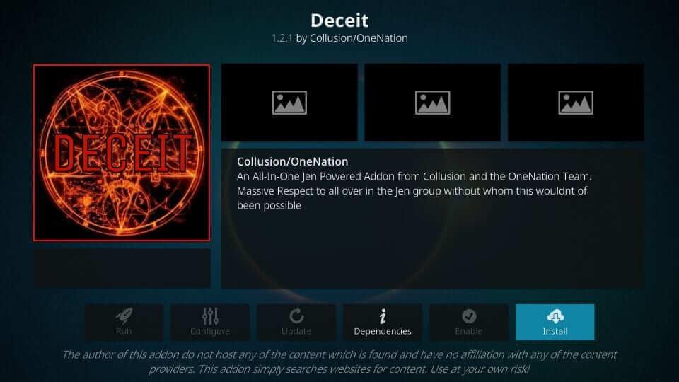 Deceit is a best Kodi Addon to watch PPV on Firestick