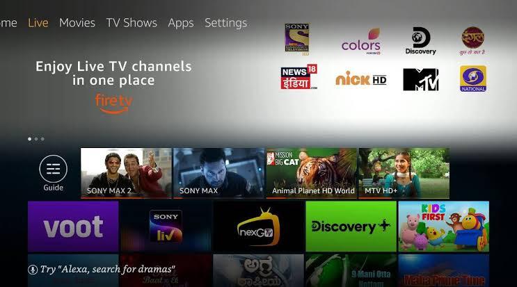 Cartoon Network on Firestick- Home screen