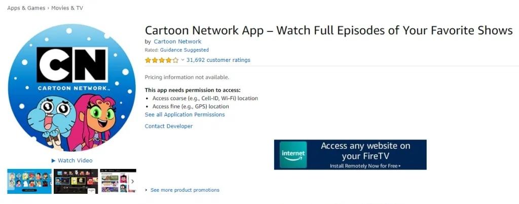 Install Cartoon Network on Firestick
