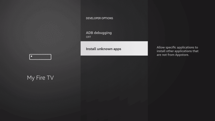 click install unknown apps to watch squid game on firestick