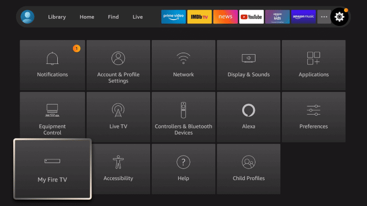 click my fire tv to enable unknown access